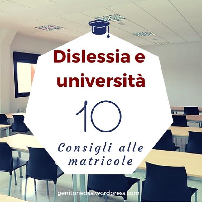 Dislessia e universita 10 consigli alle matricole sullo sfondo aula universitaria