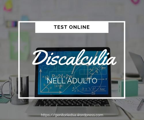 Test discalculia adulti online